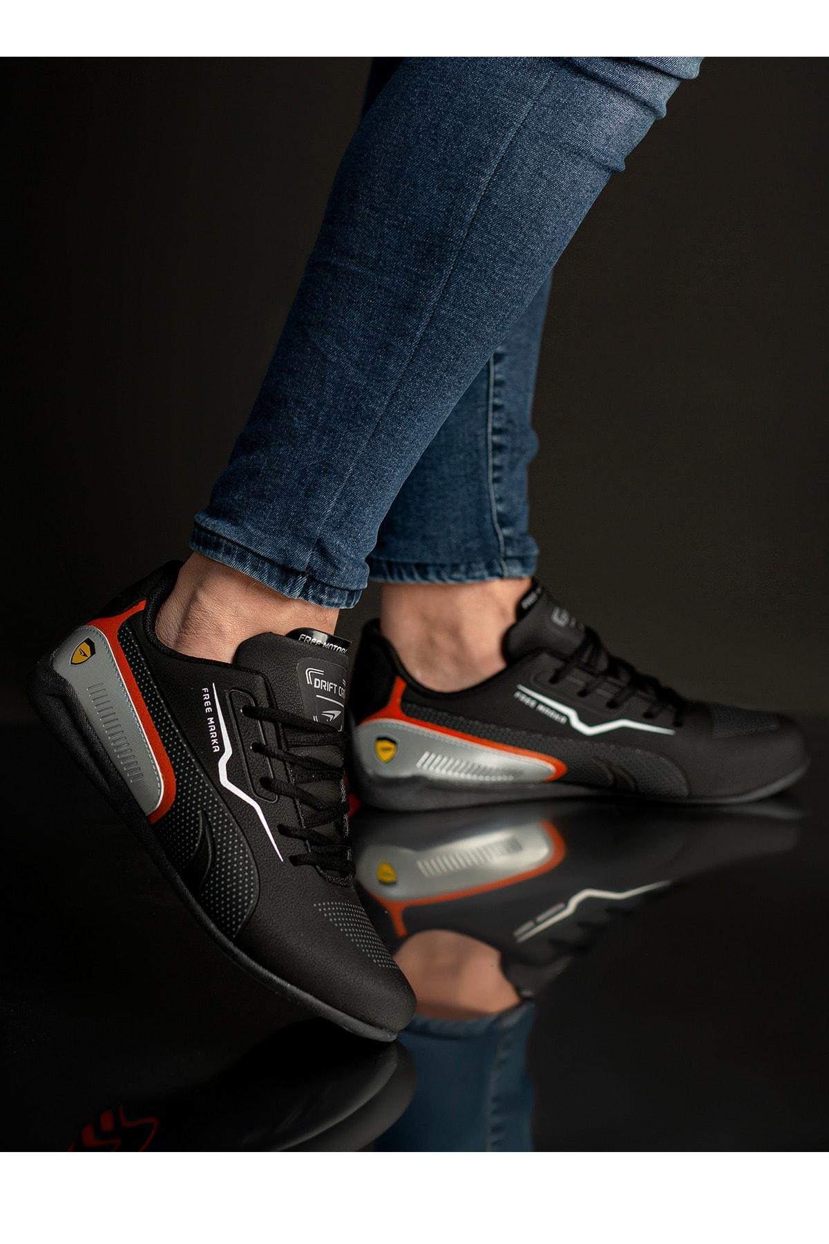 CAZORLA Erkek Siyah Günlük Spor Ayakkabı 2