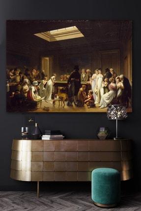Hediyeler Kapında Siyah Rönesans Toplantı Kanvas Tablo 70x100