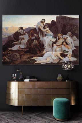 Hediyeler Kapında Huri ve Tepe Rönesans Kanvas Tablo 70x100