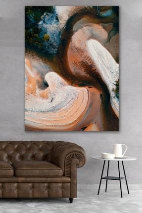 Hediyeler Kapında 90x130 Brown Art Soyut Kanvas Tablo