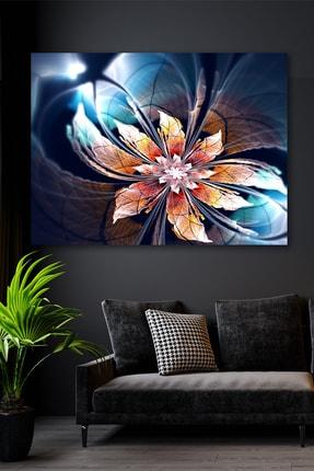 Hediyeler Kapında Futuristik Çiçek Kanvas Duvar Tablo 90x130
