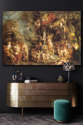 Hediyeler Kapında Rönesans Kargaşa Kanvas Duvar Tablo  100x140
