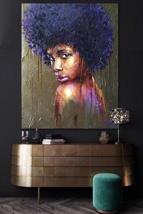 Hediyeler Kapında Yağlı Boya Görünümlü Brown Kanvas Tablo 100x140cm