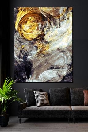 Hediyeler Kapında 100x140 Sürreal Silver & Gold Kanvas Tablo