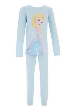DeFacto Kız Çocuk Frozen Lisanslı Pijama Takımı