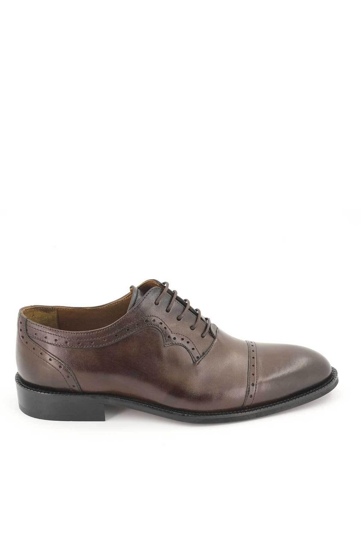 Venüs Erkek Kahverengi Klasik Deri Ayakkabı 2