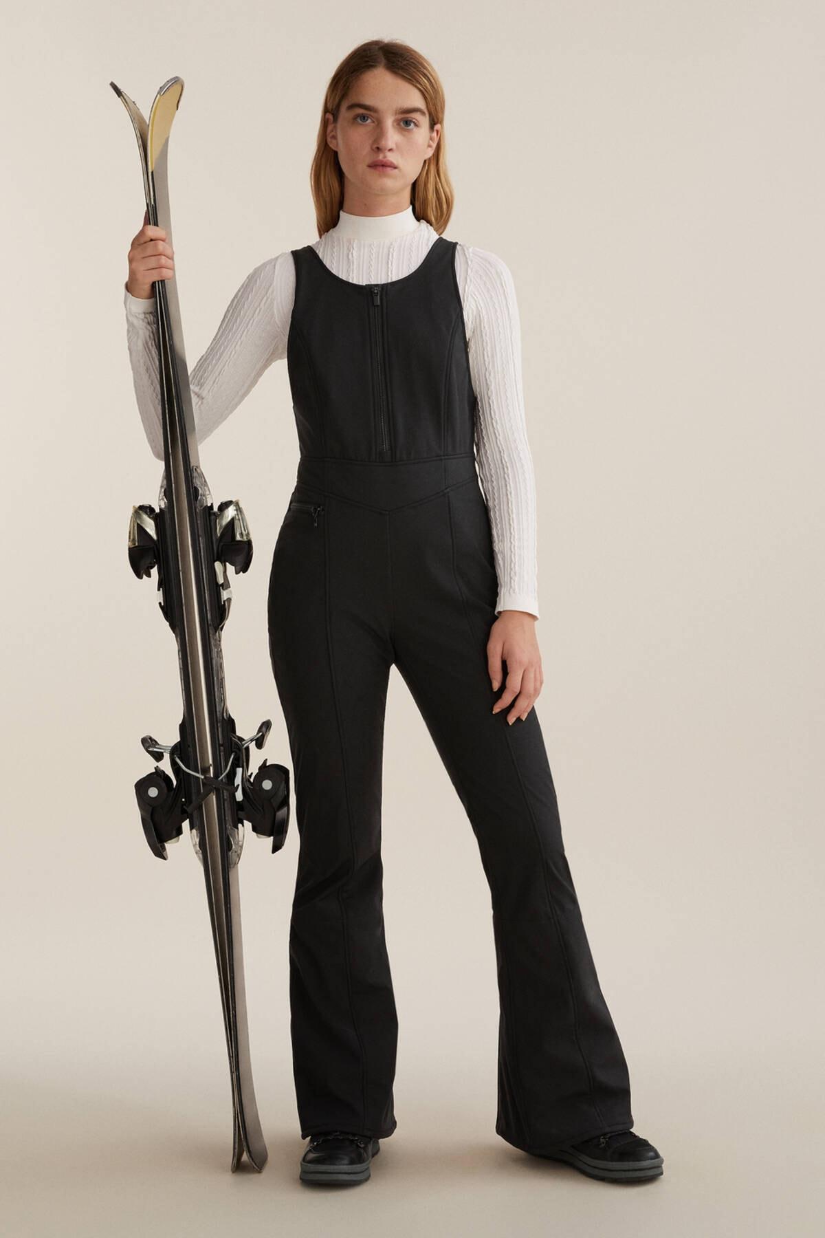 Oysho Kadın Siyah Teknik Kayak Salopeti 1