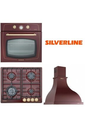 Silverline Bordo Rustik Ankastre Set Rs6235r02 - Rs5322r01 - 2238 Retro