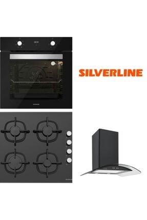 Silverline Siyah Cam Ankastre Set Bo6502b01 - Cs5343b01 - 3155 Vetro