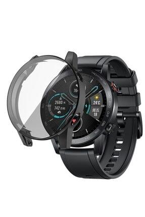 Revix Honor Watch Magic 2 46mm 360 Koruma Ultra Ince Silikon Kılıf (saat Değildir) - Siyah