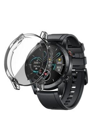 Revix Honor Watch Magic 2 46mm 360 Koruma Ultra Ince Silikon Kılıf (saat Değildir) - Şeffaf