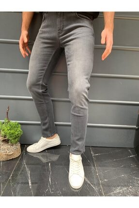 HLT JEANS Erkek Koyu Gri Slim Fit Pantolon Hlt-akıgrey