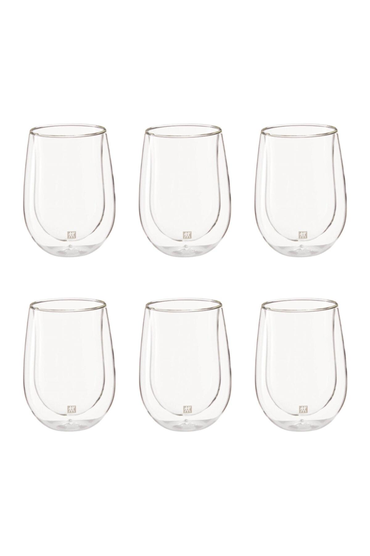 ZWILLING Çift Camlı 6'lı Beyaz Meşrubat Bardağı Seti 1