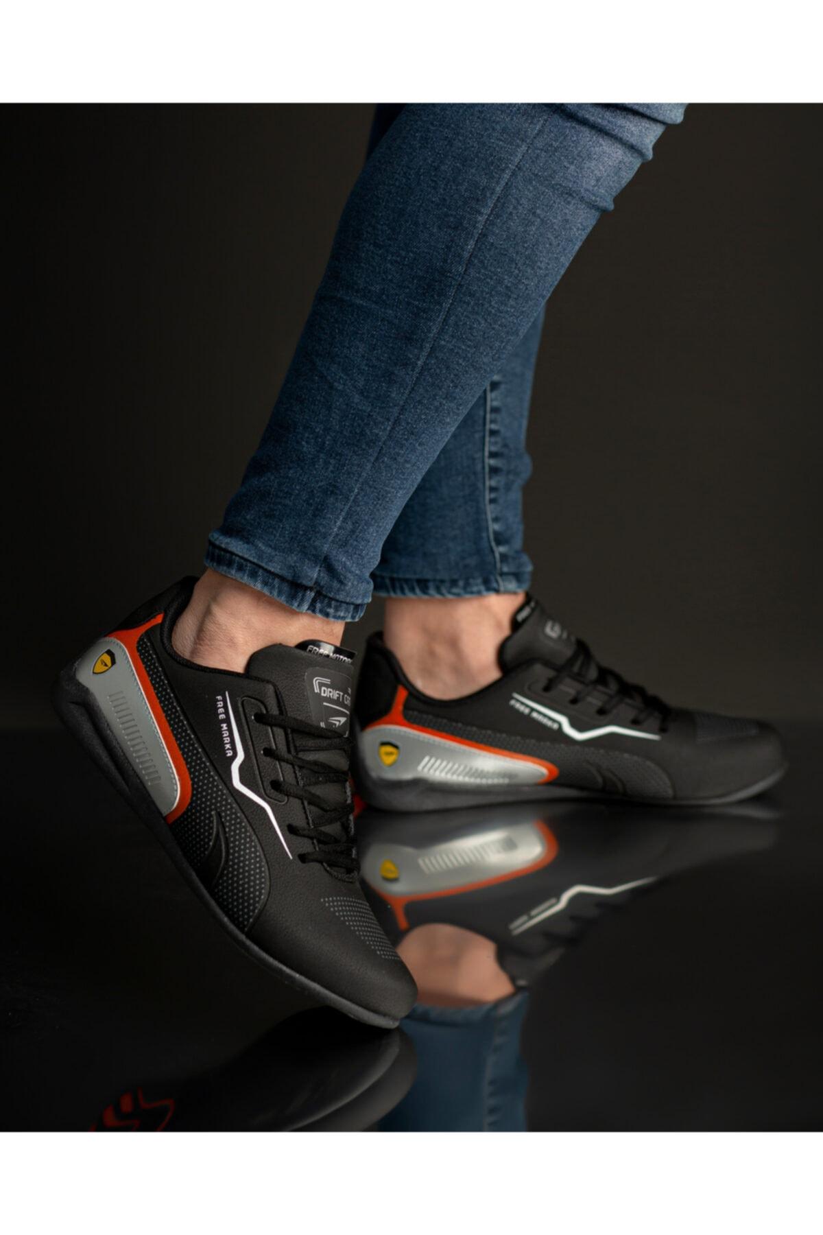 FREE MARKA Erkek Siyah Sneaker 2