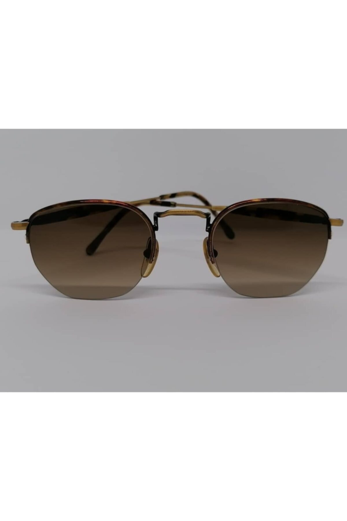 Optoline Unisex Kahverengi Vintage Güneş Gözlük 1