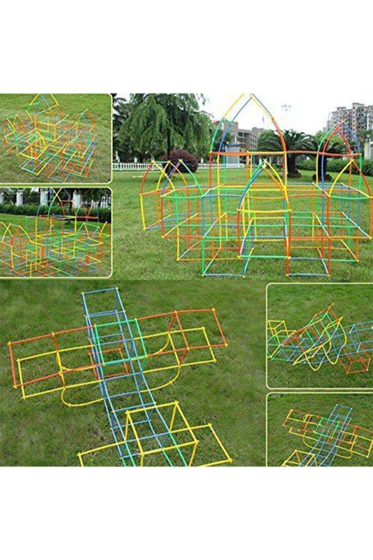 Bamboo Bambu Çubukları Zeka Hayal Ve Gücü Eğitici 4d Dıy Block 300 Parça 2