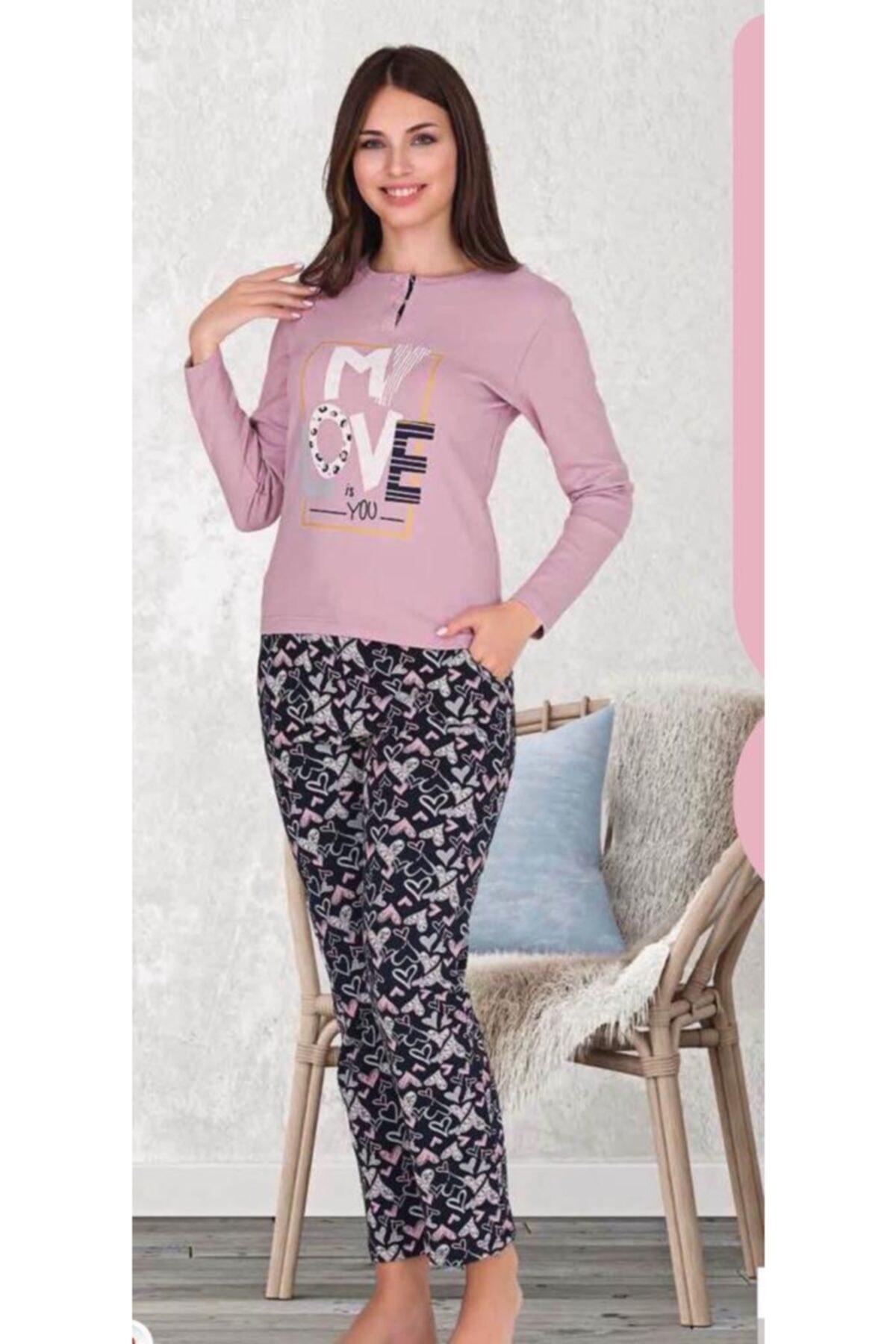Berland Anne Kız Kombin Pembe Pijama Takım 2