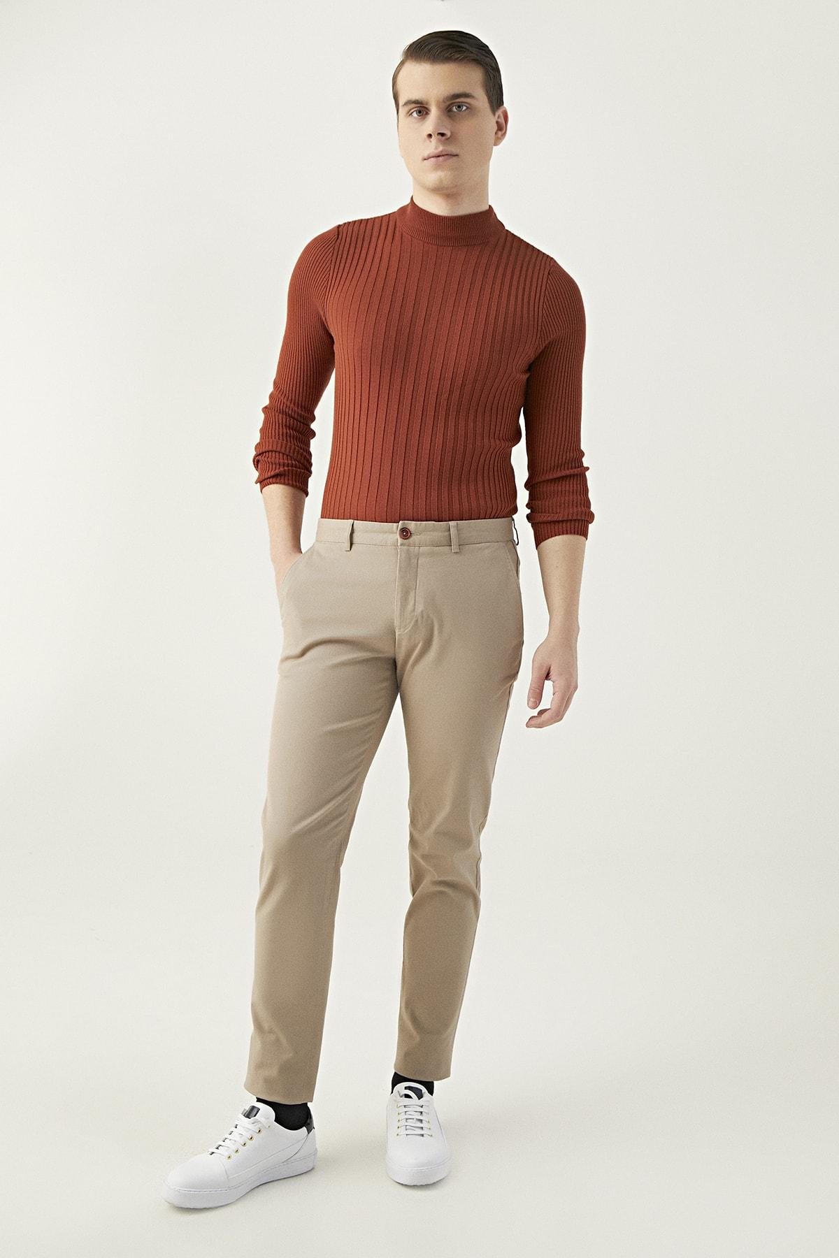 Twn Camel Renk Erkek  Pantolon (Slim Fit) 1