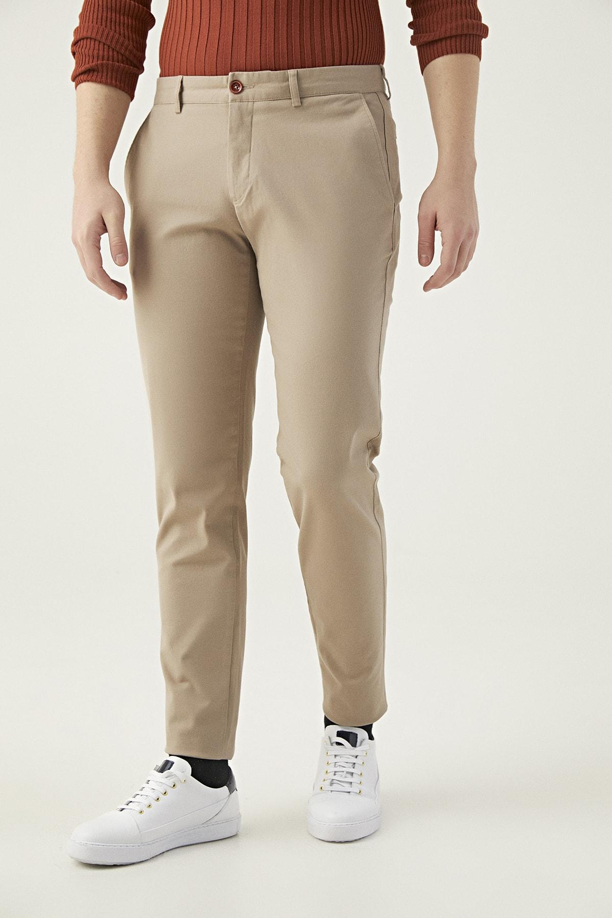 Twn Camel Renk Erkek  Pantolon (Slim Fit) 2