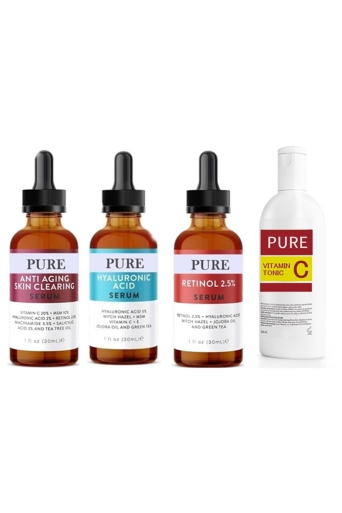 Pure 3'lü Serum -anti Aging-retinol-hyaluronic Asit Serum Tonic 1