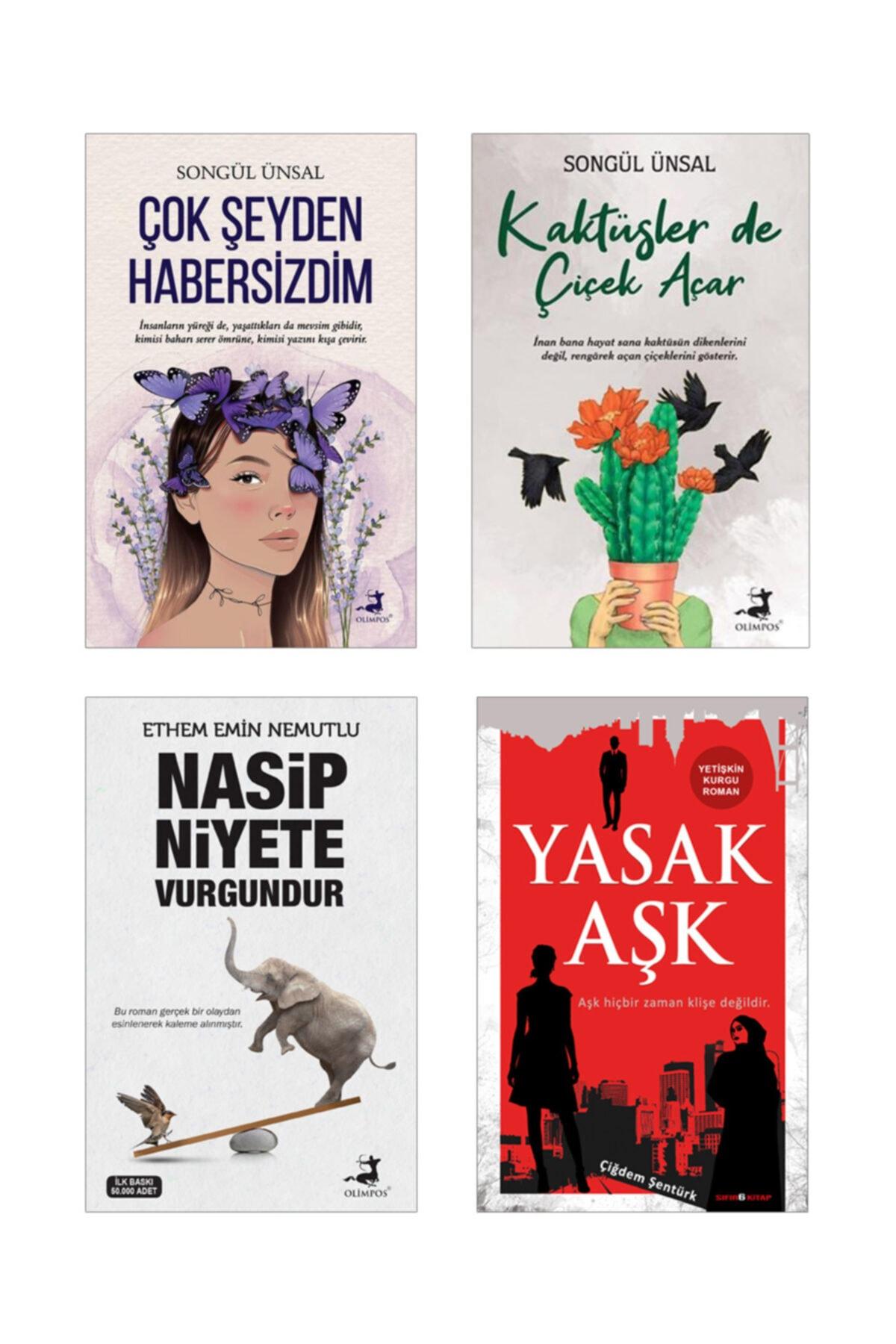 Olimpos Yayınları Çok Şeyden Habersizdim , Kaktüsler De Çiçek Açar - Songül Ünsal , Nasip Niyete Vurgundur , Yasak Aşk 1