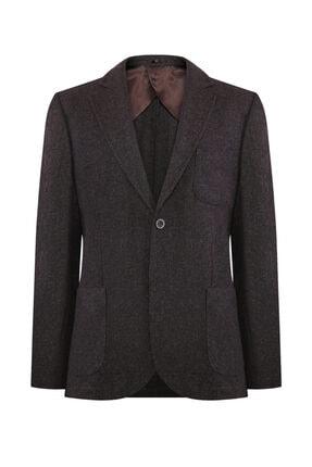 W Collection Erkek Kahverengi Flanel Air Ceket