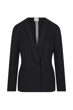 W Collection Kadın Siyah Aller Yakalı Ceket