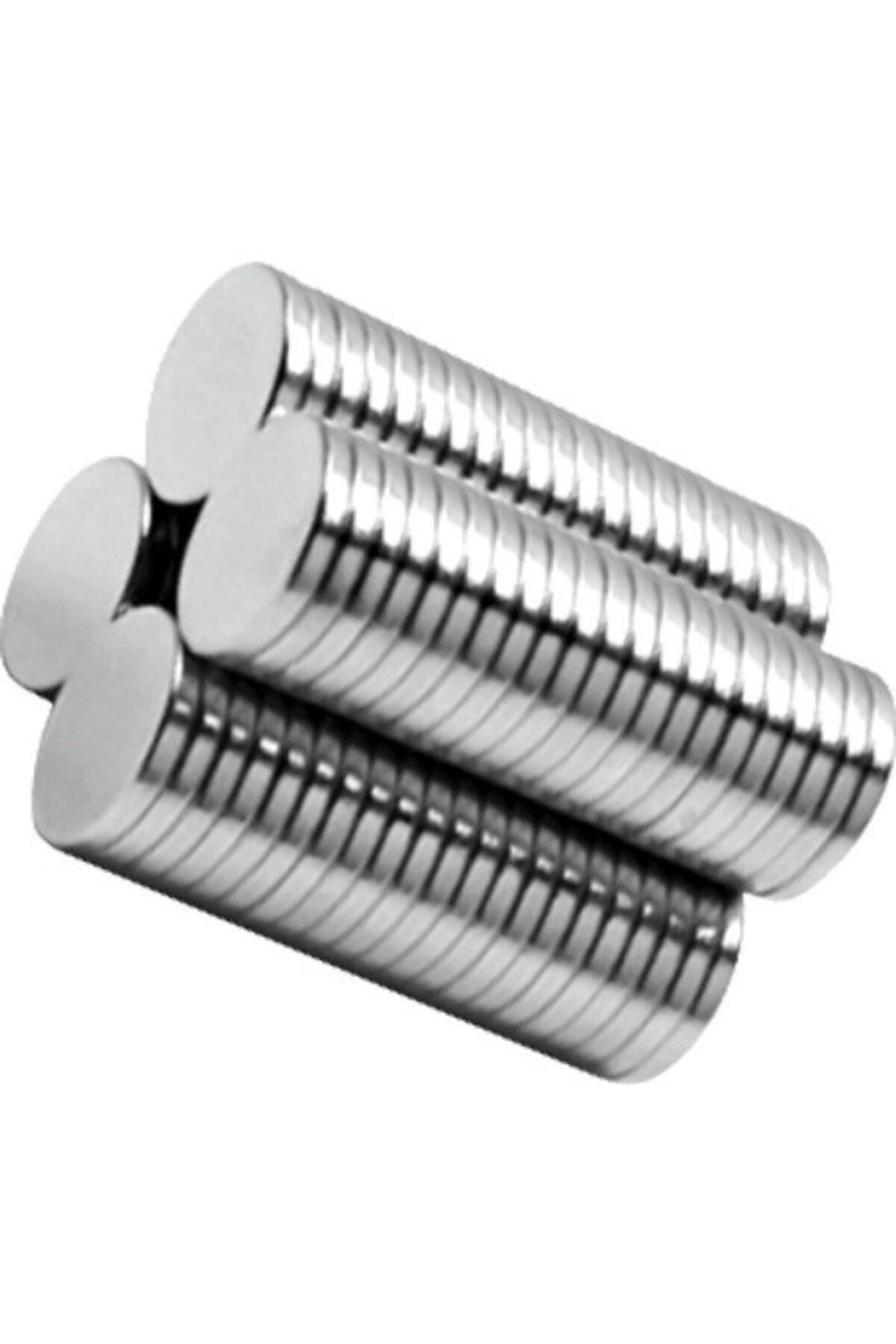 NeoHobi 10 Adet Neodyum Mıknatıs - Çok Güçlü - Çap:10m Kalınlık:1mm 2