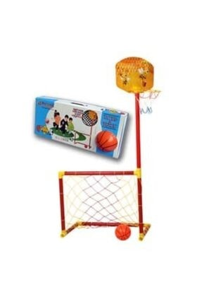 AKÇİÇEK OYUNCAK Portatif Futbol Kalesi Ve Basket Potası 2'si Bir Arada