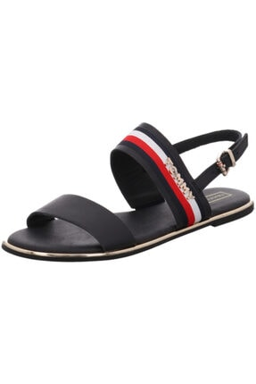 Tommy Hilfiger Flat Sandal Ribbon Midnight Kadın Terlik Sandalet
