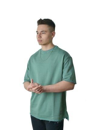 Retro Yeşil Oversıze Street Sweat T- Shirt