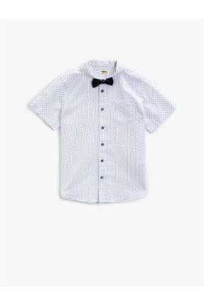 Koton Erkek Çocuk Beyaz Kısa Kollu Gömlek