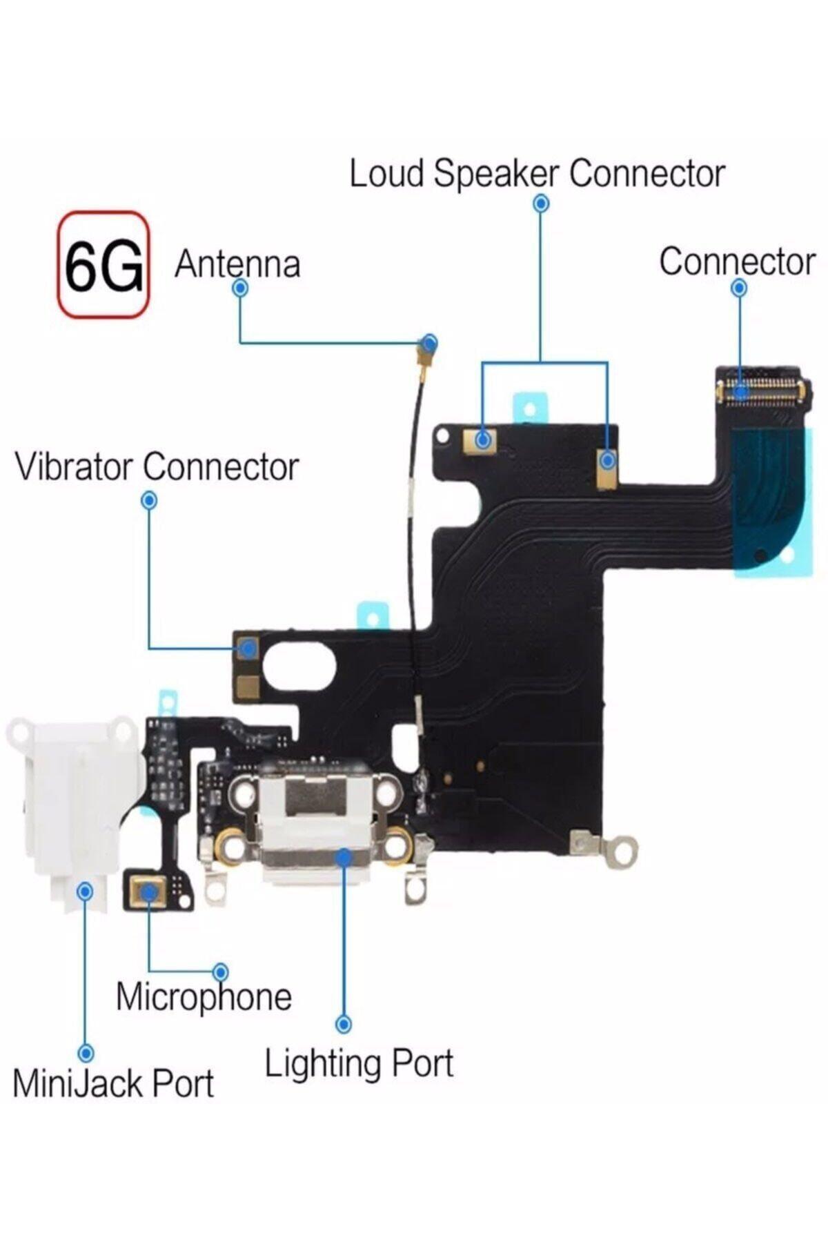 ucuzmi Iphone 6 Şarj Soketi Mikrofonlu Anten Soketli Teknik Servis Ürünü 2