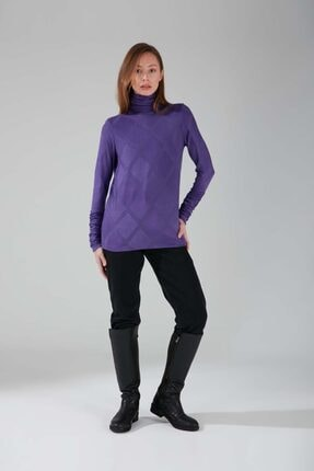 Mizalle Büzgü Yakalı Desenli Bluz (MOR)