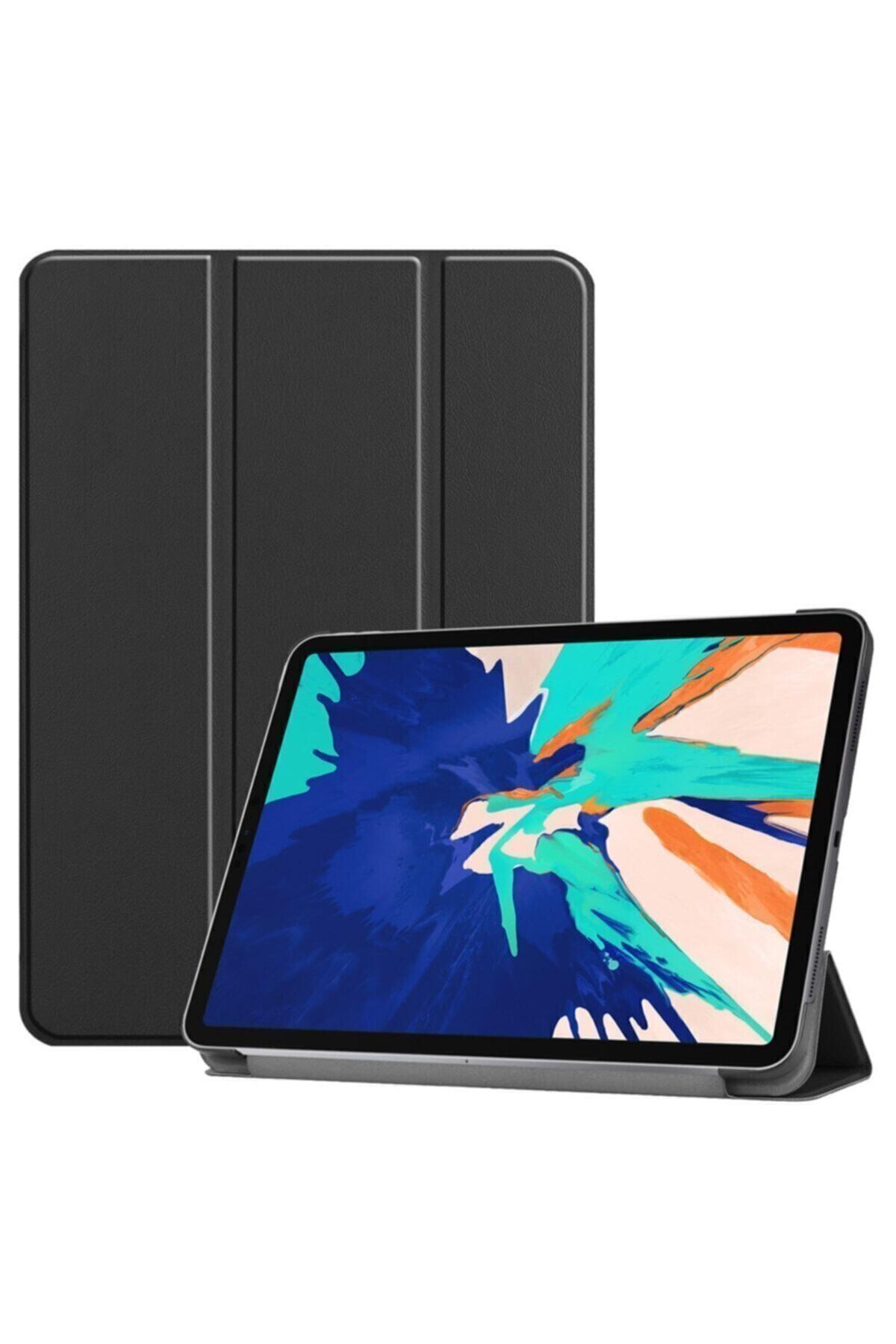 "MOBAX Apple Ipad 8.nesil 10.2"" Uyumlu Pu Deri Smart Case Siyah Kılıf A2270 A2428 A2429 A2430 1"