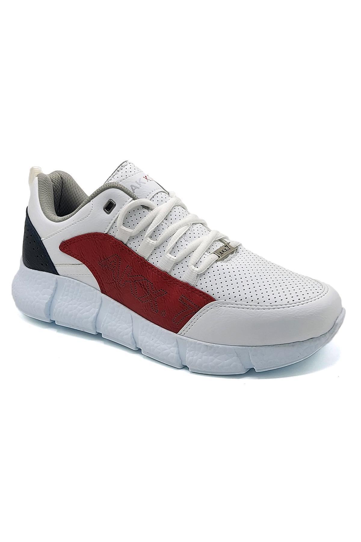 L.A Polo 021 Beyaz Kırmızı Beyaz Erkek Spor Ayakkabı 1