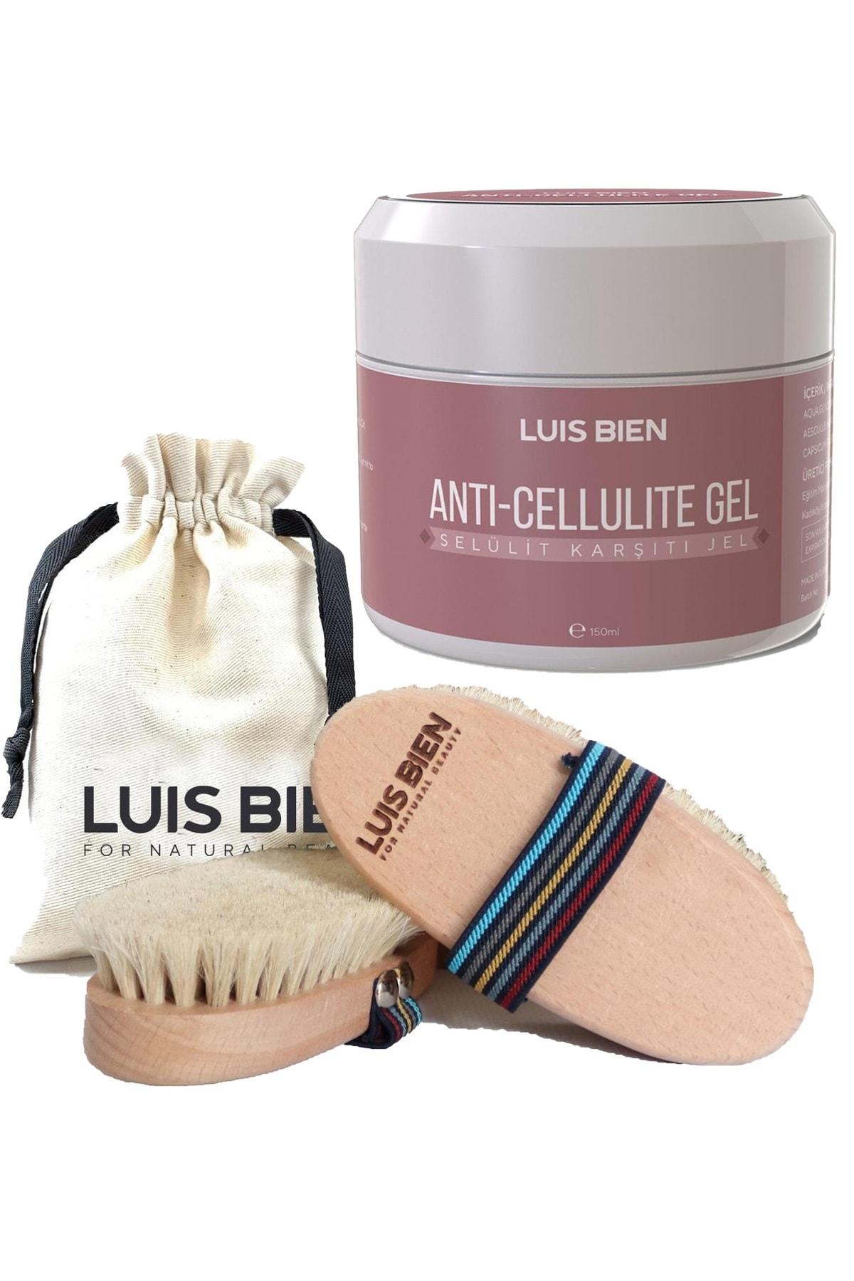 Luis Bien Anti-cellulite Gel Selülit Jeli 150 Ml + %100 Doğal At Kılı Selülit Fırçası 1