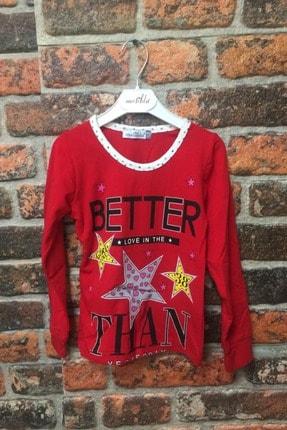 MATILDA Kız Çocuk Kırmızı Baskılı Pijama Üstü