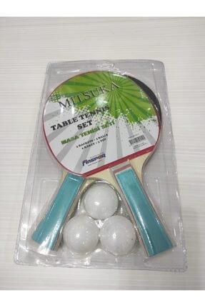 MITSUKA Masa Tenis Raketi Seti (2 Raket + 3 Top) 862-2