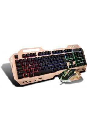 Concord Metal Kasa Oyuncu Klavye Mouse Seti - Gaming Pc Metal Işıklı Klavye Mouse Seti