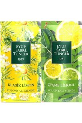 Eyüp Sabri Tuncer Est Klasik Limon Ve Çeşme Limonu 300 Adet Kolonyalı Mendil 2 Li Set
