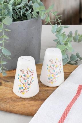Keramika İlkbahar Tomurcuk Tuzluk-Biberlik 2 Parça