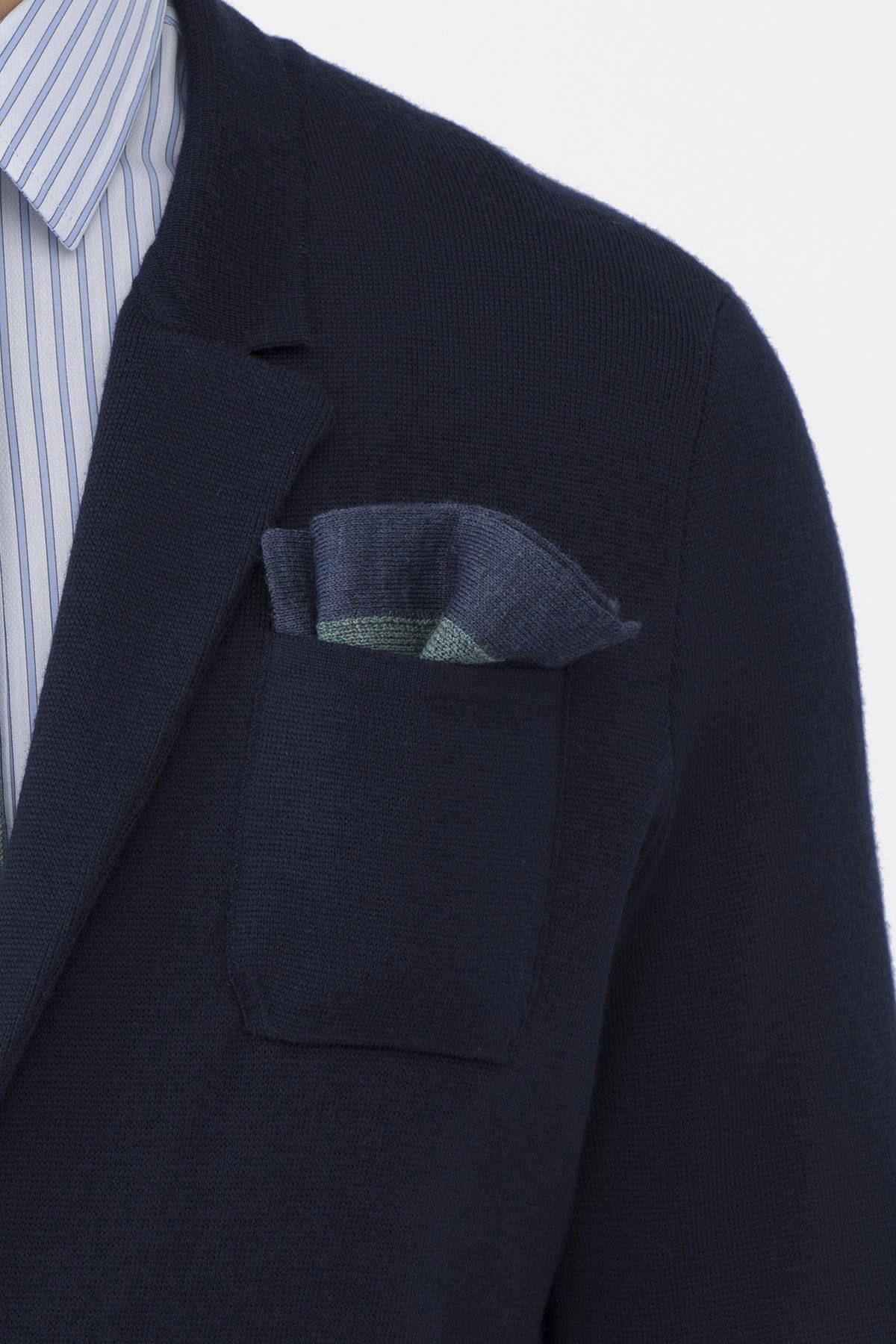 Hemington Yeşil Açık Yeşil Örgü Ceket Mendili 1