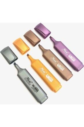Masis H708-4m Fosforlu Kalem Metalik 4 Renk Paket
