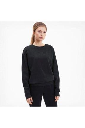 Puma MODERN BASICS CREW FL Siyah Kadın Sweatshirt 101119452