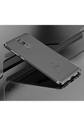 Huawei Teleplus Mate 10 Lite Lazer Kesimli Silikon Kılıf Gümüş