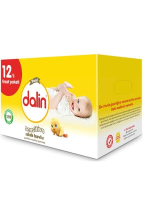 Dalin Sensitive Islak Havlu 12x52 Adet
