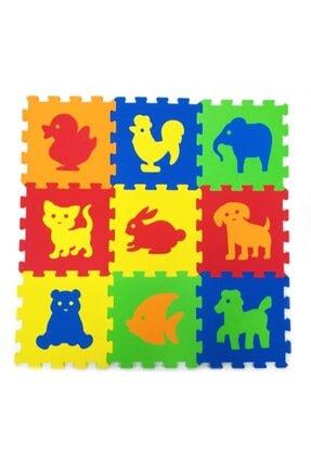 Merinos Eva Hayvan Desenli Oyun Matı 33x33 Cm Çocuklarınıza Oyunlu Öğreti