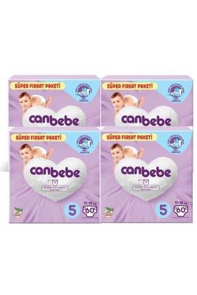 Canbebe 4'lü Bebek Bezi Süper Fırsat Paketi 5 Beden 60 Adet