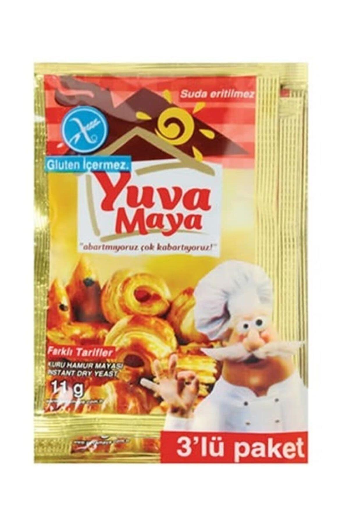 YUVA Instant Kuru Ekmek Mayası 3x11 Gr 1